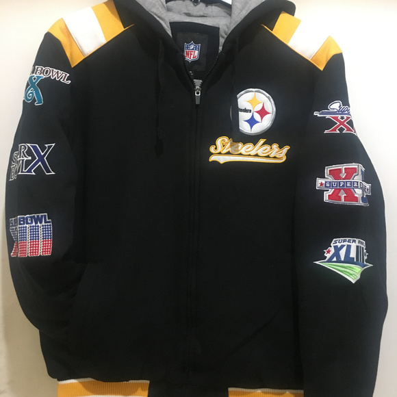 uk availability 6a319 18fcb Pittsburgh Steelers Championship Varsity Hoodie NWT